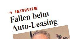 """Neuß-Grevenbroicher Zeitung: """"Fallen beim Auto-Leasing"""""""